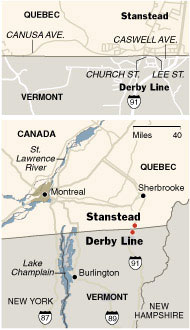 Quebec and Vermont Towns Bond Over a Sleepy Border The