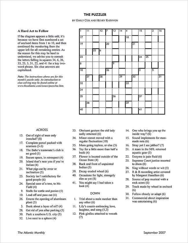 Fresh New York Times Crossword