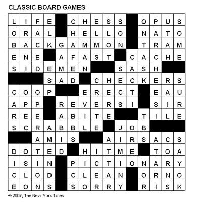 Crosswords: Classic Board Games