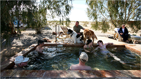 A VacationHome Owner Makes His Own Hot Spring in the
