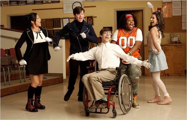 wheelchair glee folding sling chair on fox, a motley crew of singing high school misfits - the new york times