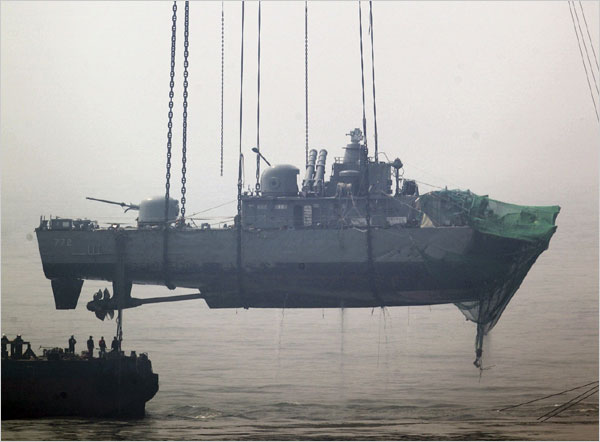 North Korea Denies Sinking South Korean Warship  The New