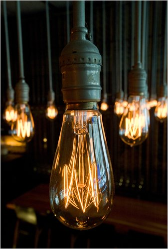 Vintage Light Bulbs Are Hot but Ignite a Debate  The New