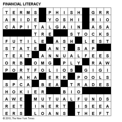 Crosswords: Financial Literacy