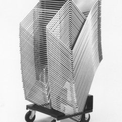 David Rowland Metal Chair Reupholster Cushion Diy 86 Designer Of Stacking The New York Times Forty Them Can Be Stacked Four Feet High
