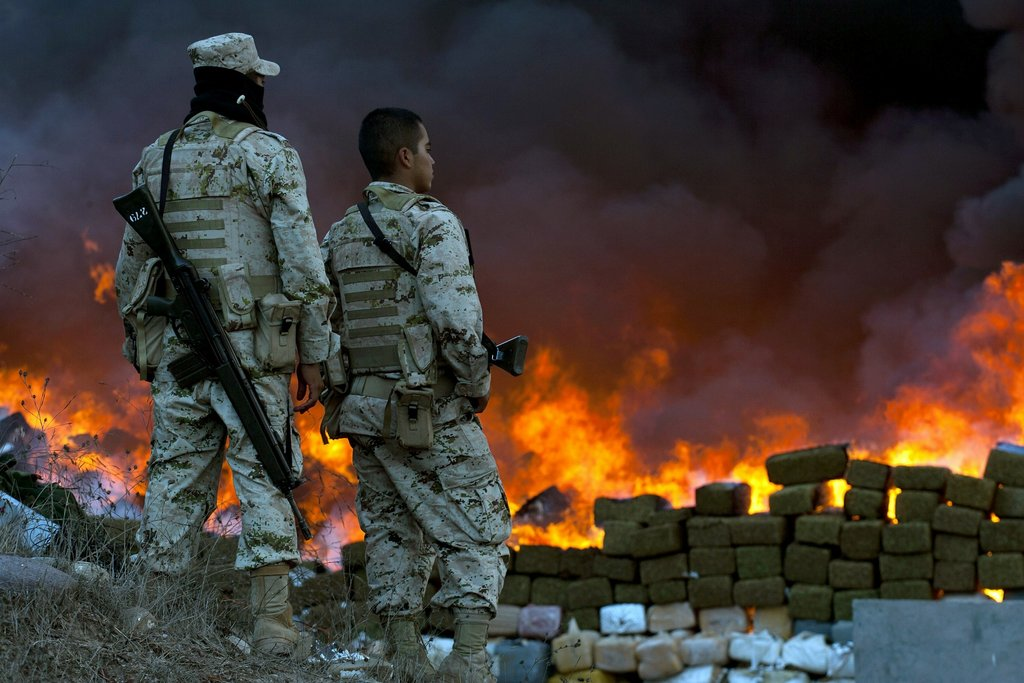 Fall Town Wallpaper Mexican Authorities Burn 134 Tons Of Seized Marijuana