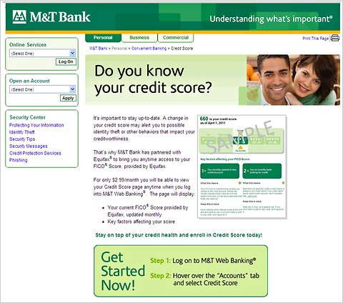 M T Bank Offers Access To Fico Credit Score For A Fee The New York Times
