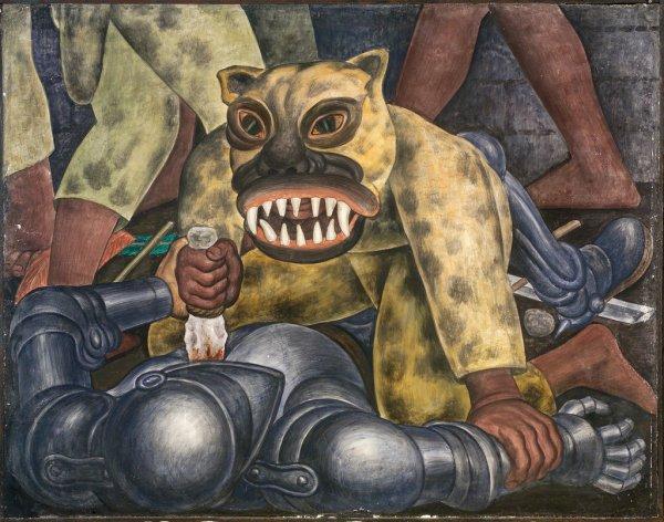Diego Rivera Indian Warrior
