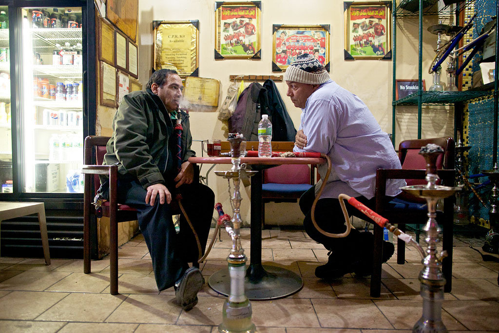 At The Egyptian Coffee Shop Hookah Smoke And Mideast News