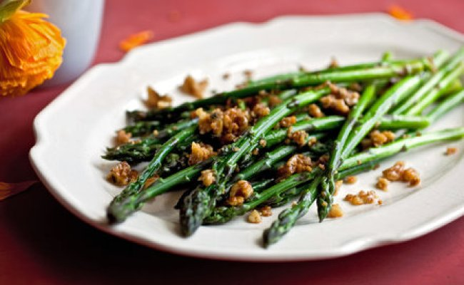 Asparagus With Walnuts Parmesan And Brown Butter Recipe