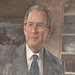 George W. Bush stood next to his official portrait during a ceremony in the East Room of the White House on Thursday.