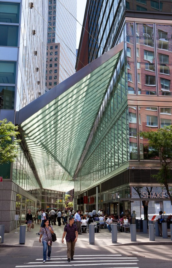 Architectural Canopy Shines In Battery Park City