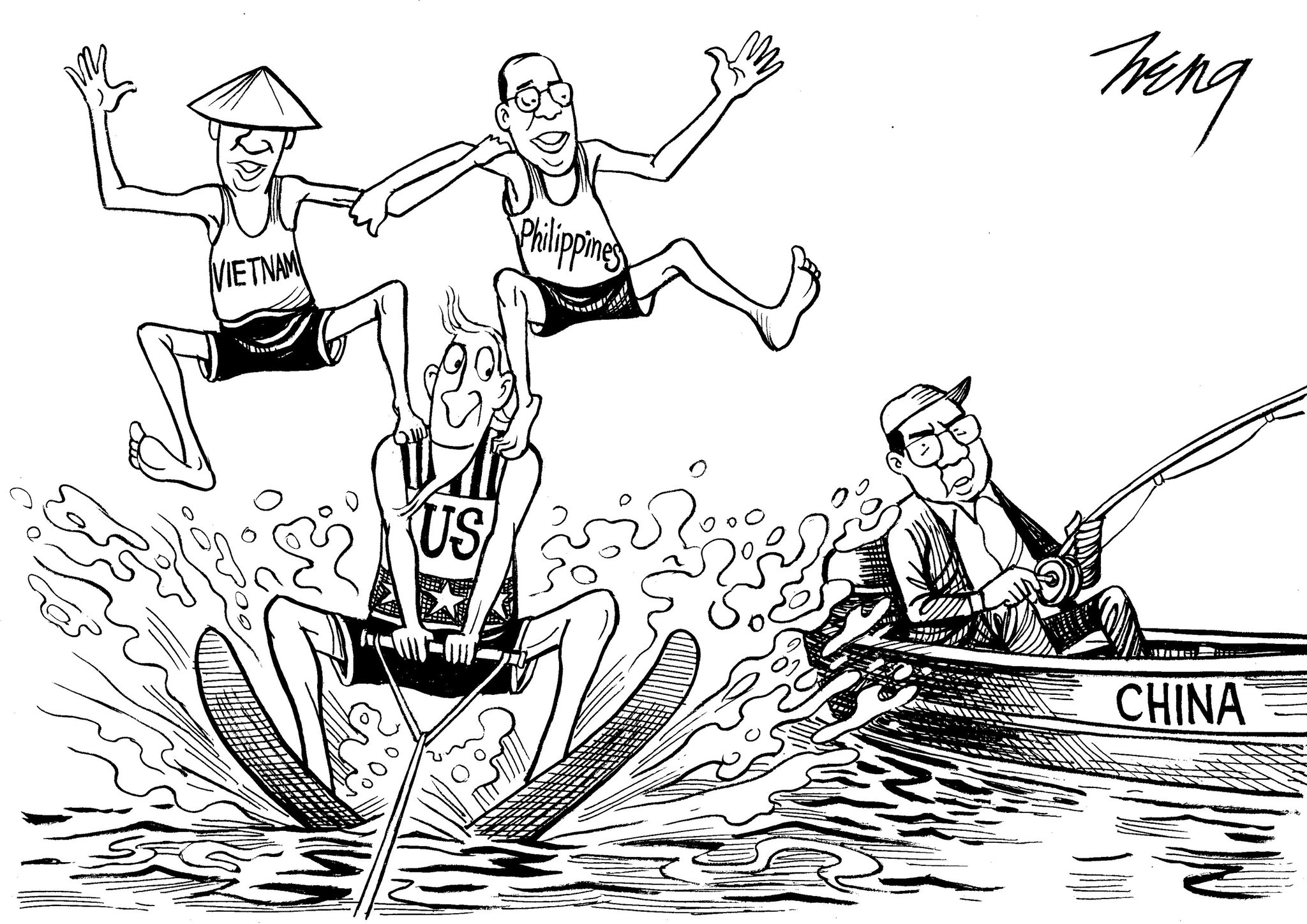 Editorial Cartoon Disputes Over The South China Sea