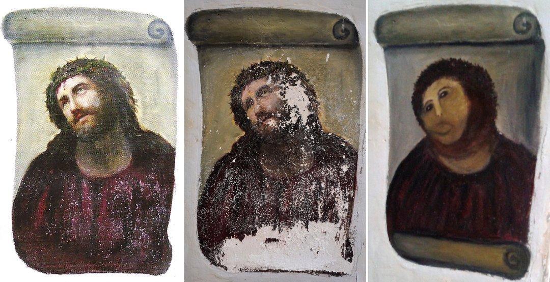Botched Restoration of Ecce Homo Fresco Shocks Spain - The New York Times