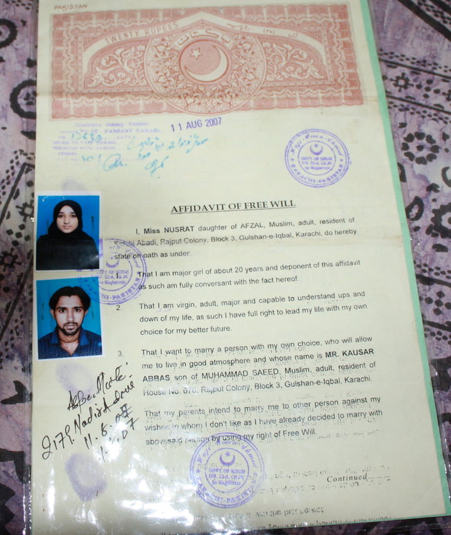 Some Pakistani Women Risk All to Marry for Love  The New York Times