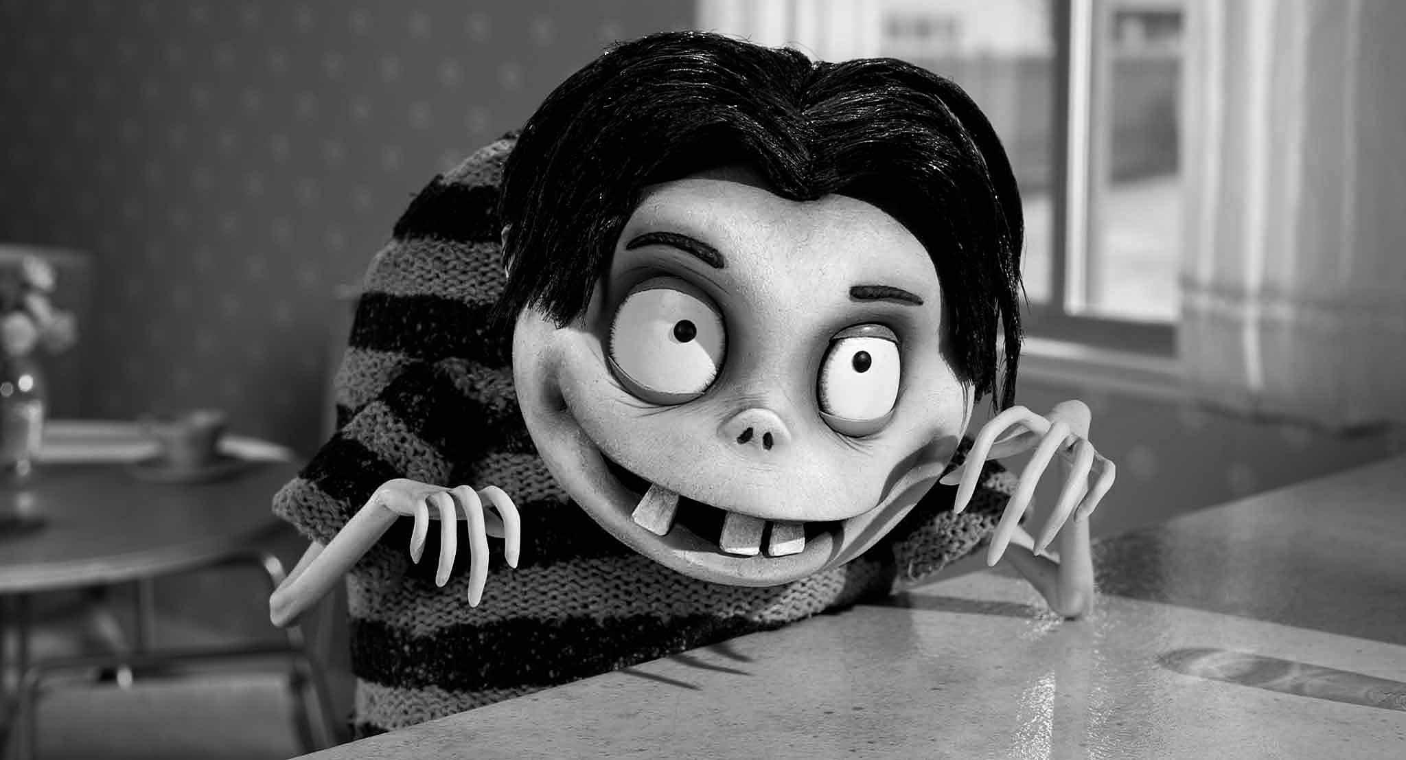 Frankenweenie's hunchback boy grinning