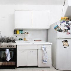 Cheap Stainless Steel Kitchen Appliances Essentials From Calphalon In A Tiny Brooklyn Kitchen, Room For Lots Of Ideas - The ...