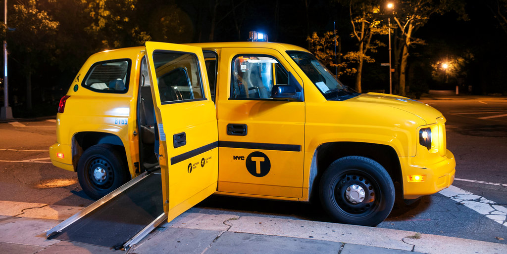 yellow wheelchair adirondack chair pattern a cab tailored to users the new york times