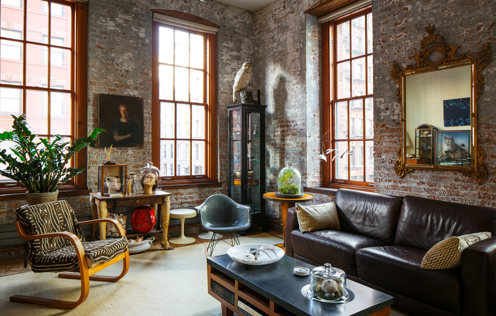 new york loft style living room sets for less than 500 in a tribeca taxidermy fun house artifacts and modernism the times
