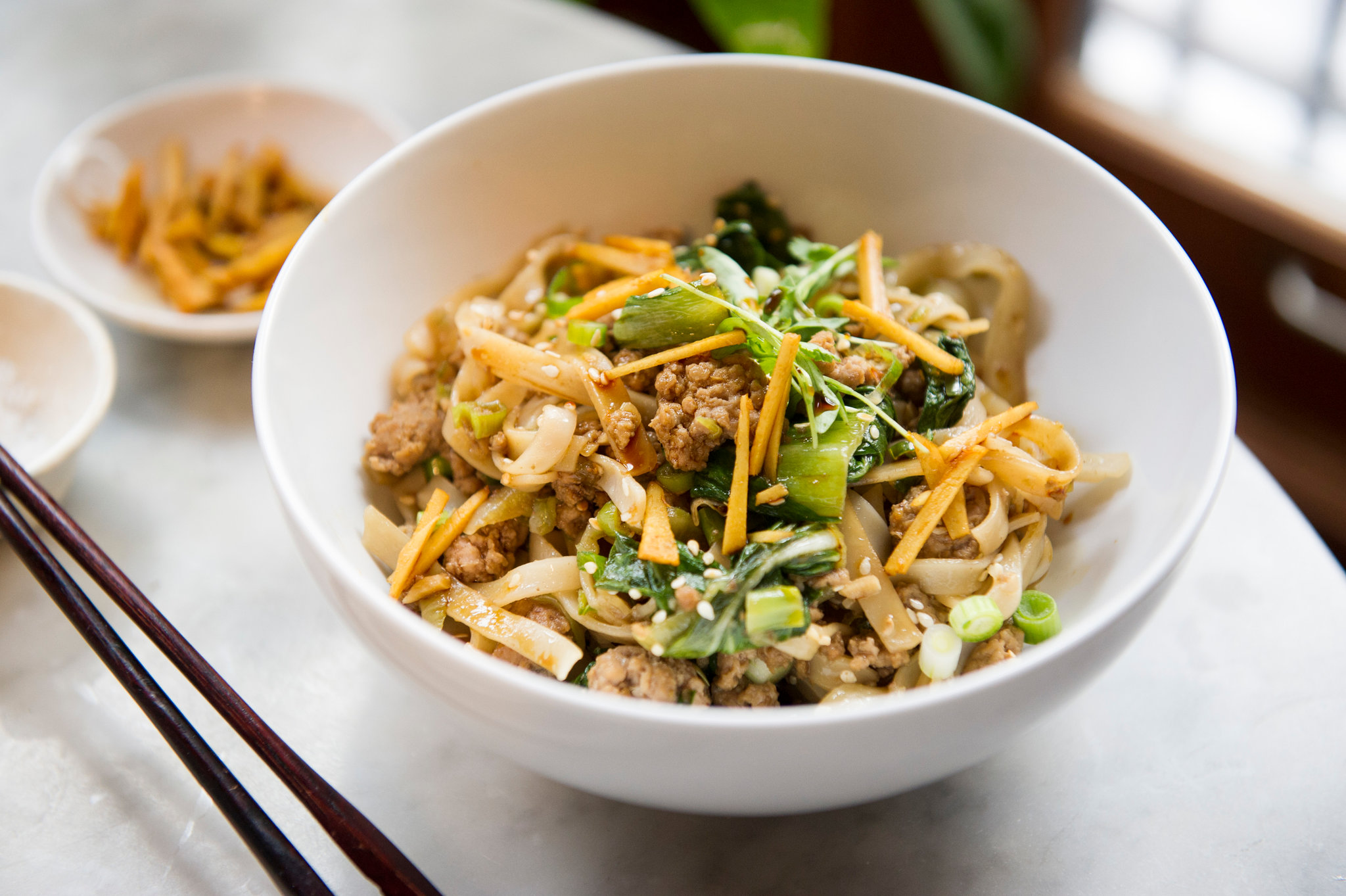 Spicy Ginger Pork Noodles With Bok Choy Recipe