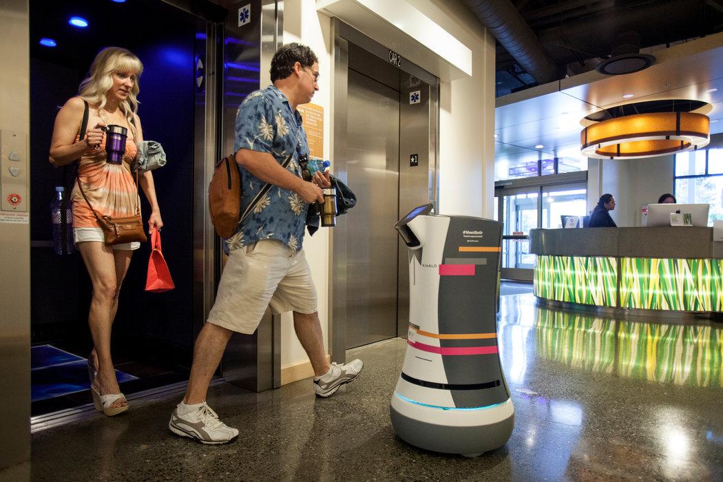 Aloft Hotel to Begin Testing Botlr a Robotic Bellhop  The New York Times