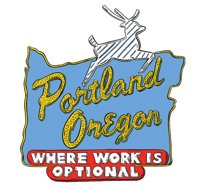 Portland, Oregon: Where Work is Optional (Kelsey Dake, NYTIMES)