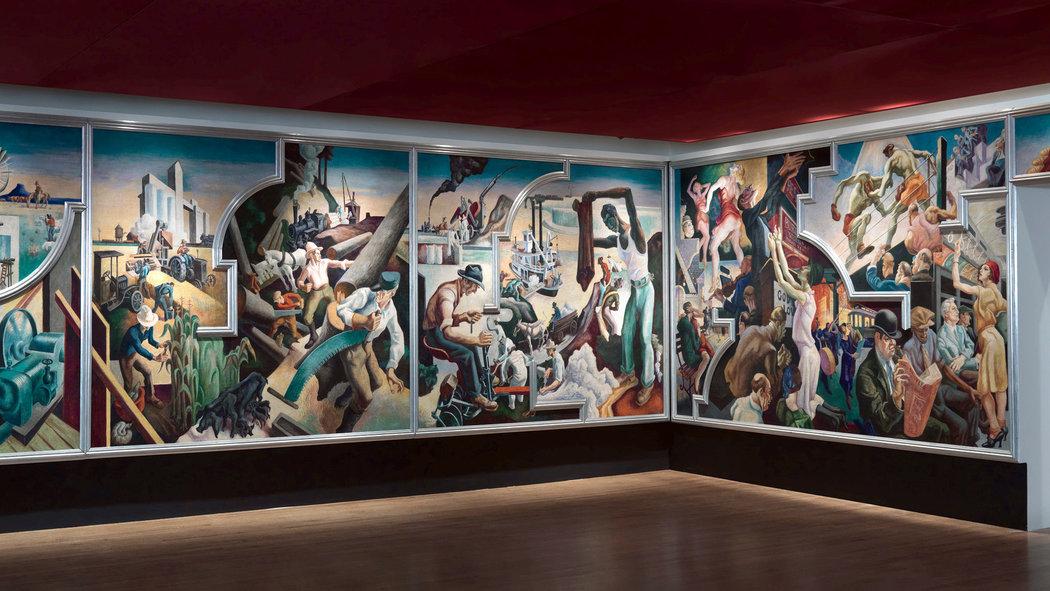Thomas Hart Benton S America Today Mural At The Met
