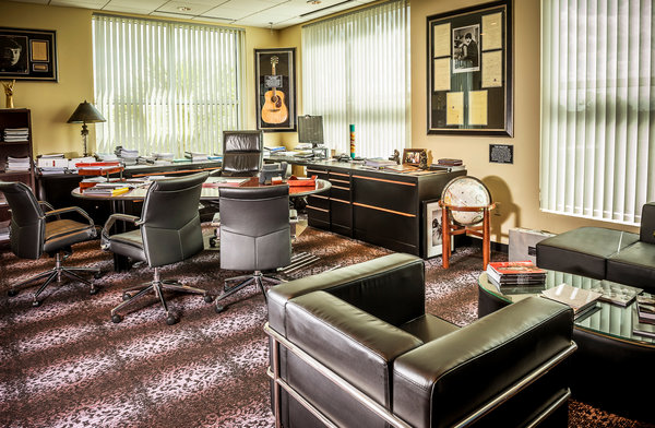 In the Office of the Hard Rock CEO Riffs on a Theme