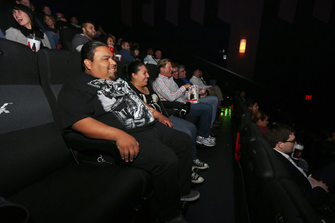 To Lure Young Movie Theaters Shake Smell and Spritz  The New York Times