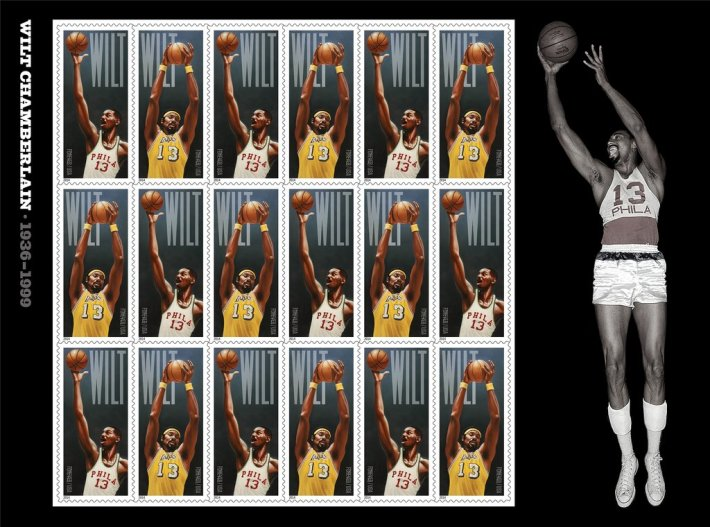Nba Legend Wilt Chamberlin 1st Player To Be Commemorated On U S