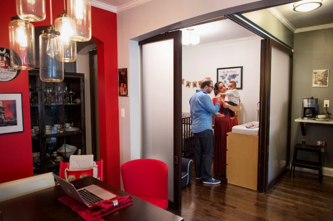 The Lombardi Family Used Sliding Gl Doors To Turn Dining Nook Into A Room For Baby Credit Joshua Bright New York Times