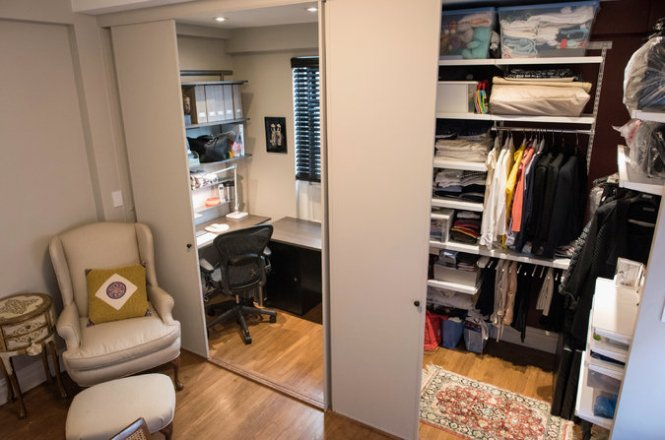 Ms Tsang And Her Husband Created An Office Nook A Large Closet In The Master Bedroom Credit Joshua Bright For New York Times