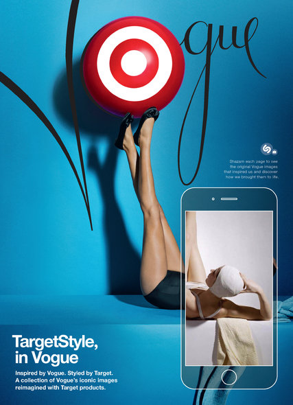 Vogue Ads Skip a Step Linking Readers to Target  The New