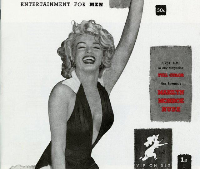The First Issue Of Playboy Magazine Which Came Out In December 1953 Featured Marilyn Monroe