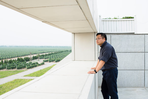 French winemaker Möet & Chandon's property in Ningxia