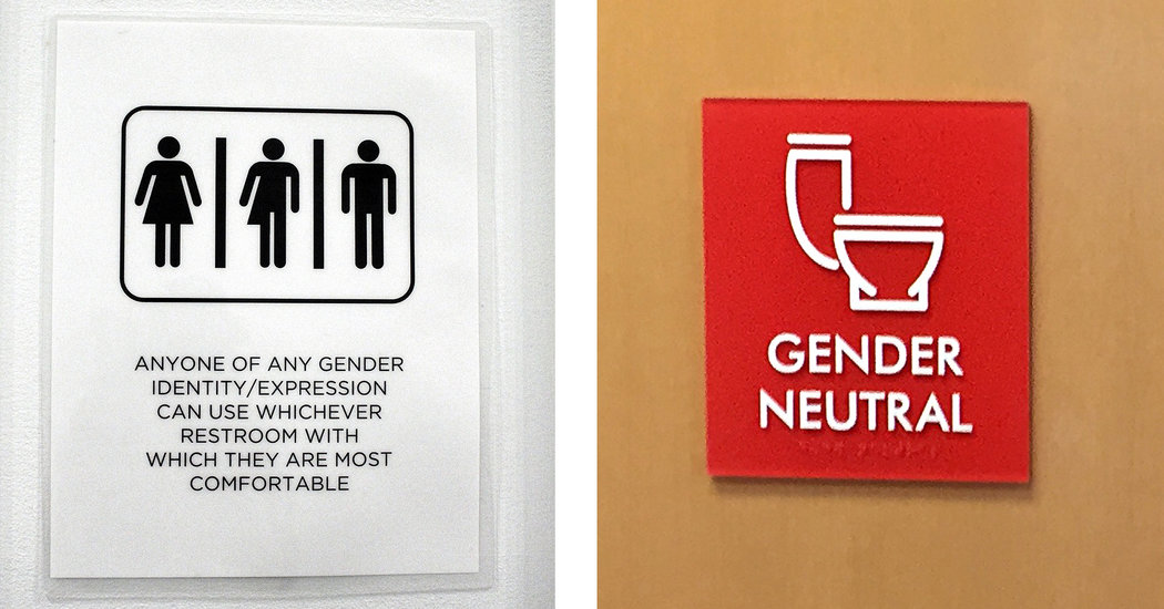 In AllGender Restrooms the Signs Reflect the Times  The New York Times