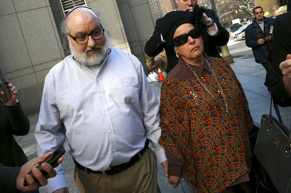 Jonathan J. Pollard, a convicted spy who was freed after 30 years in prison, with his wife, Esther, in Manhattan on Friday.