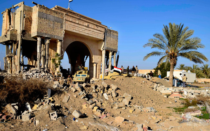 Iraqi soldiers in northern Ramadi, Iraq, on December 21. Credit Associated Press