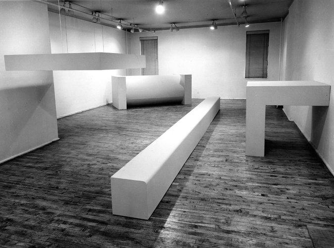 A Robert Morris Installation At The Green Gallery In 1964 Credit Estate Of Rudy Burckhardt Artists Right Society Ars New York Via Castelli