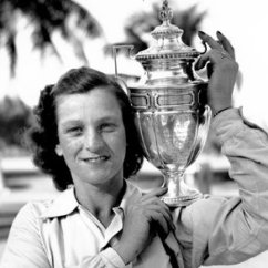 Folding Chair Nathaniel Alexander Reclining Cover Graham Bell Who Sparked A New Era Of Communication Babe Didrikson Zaharias With Her Trophy After Winning The Helen Lee Doherty Women S Invitational Championship Golf Tournament In 1947