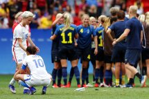 Hope Solo Takes Aim Sweden U. Women Ousted
