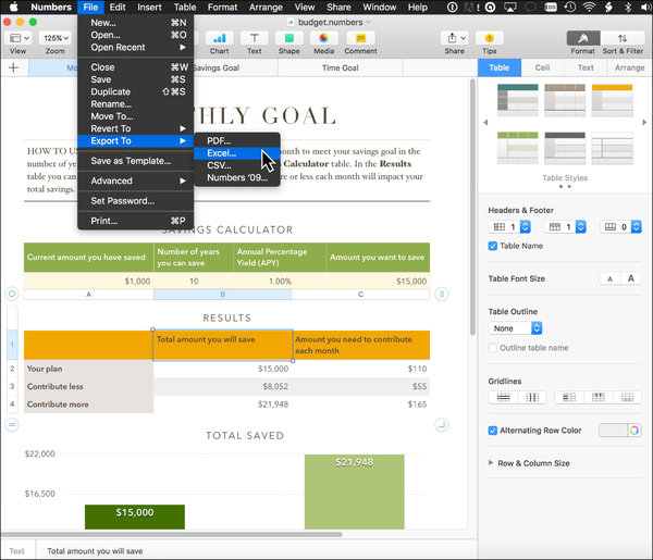 Converting Spreadsheets in Apple's Numbers to Excel - The New York Times