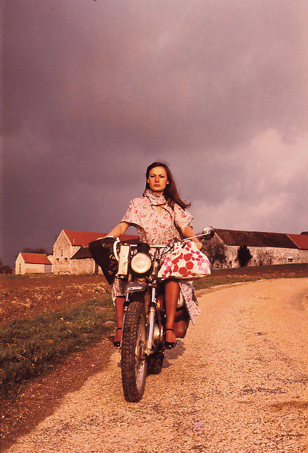 In The 70s She Motorcycled Around The World Today She