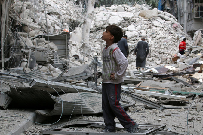 Assad and Russian Forces Bombard City