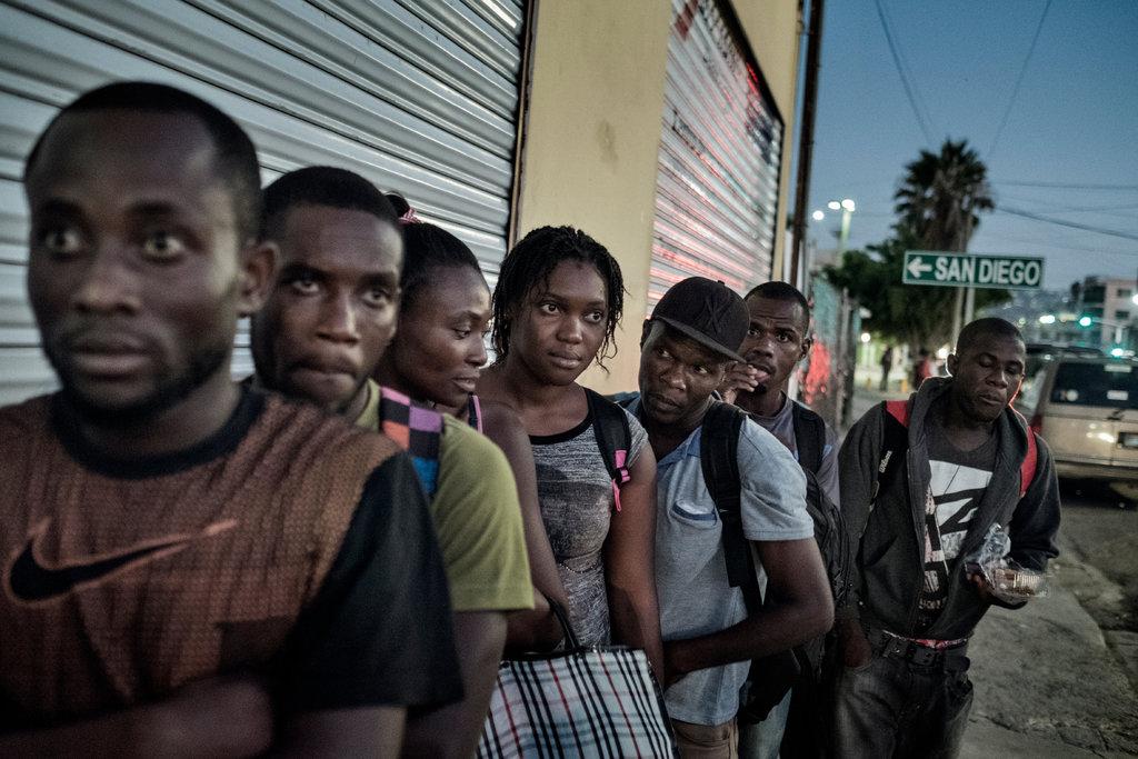 haitians after perilous journey