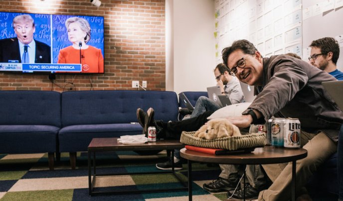 The Late Show with Stephen Colbert writers room