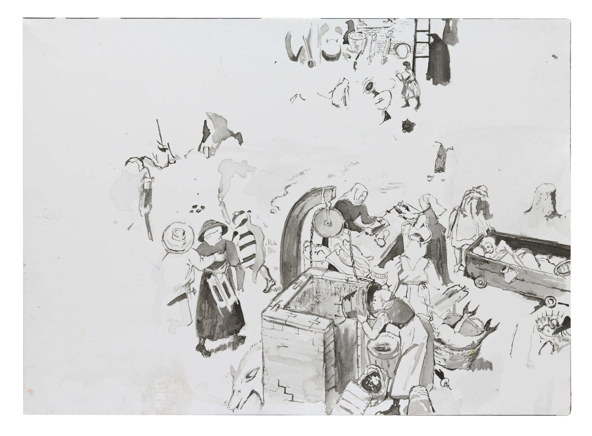 Cecily Brown's Repeated Images Tell a Story About Drawing