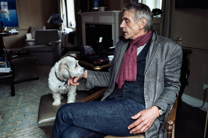fancy desk chairs wicker chair outdoor cushions home is anywhere jeremy irons drapes his scarf - the new york times