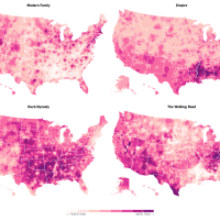 'Duck Dynasty' vs. 'Modern Family': 50 Maps of the U.S. Cultural Divide by JOSH KATZ