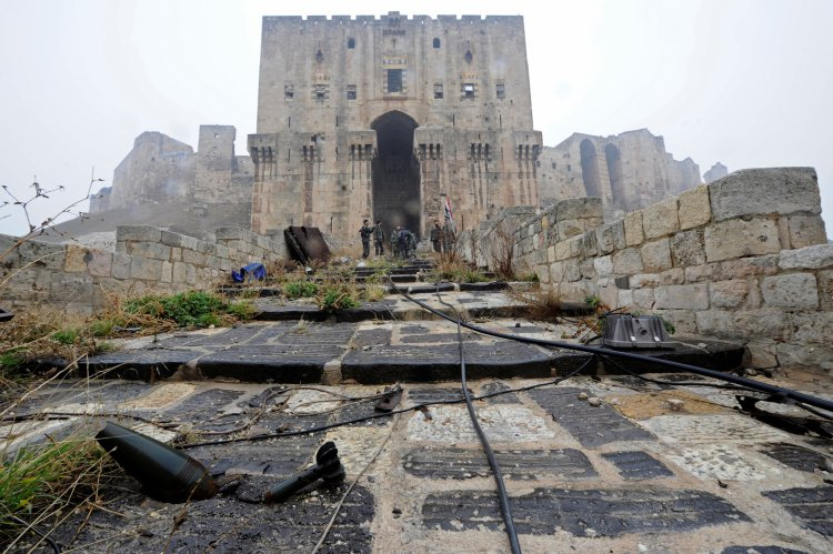 Government troops have seized areas of the old city around Aleppo's citadel, used as an army base. CreditOmar Sanadiki/Reuters..